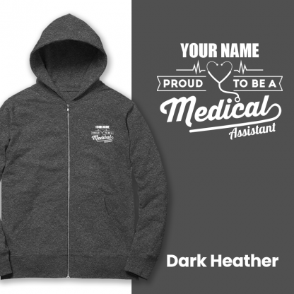 proud to be a medical assistant dark heather