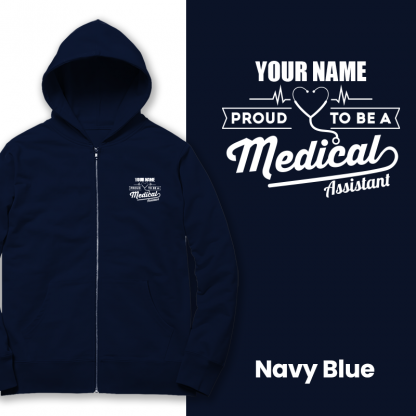 proud to be a medical assistant navy blue