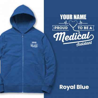 proud to be a medical assistant royal blue