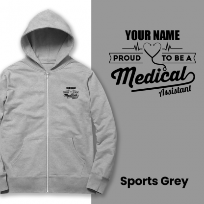 proud to be a medical assistant sports grey