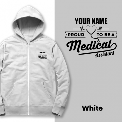 proud to be a medical assistant white