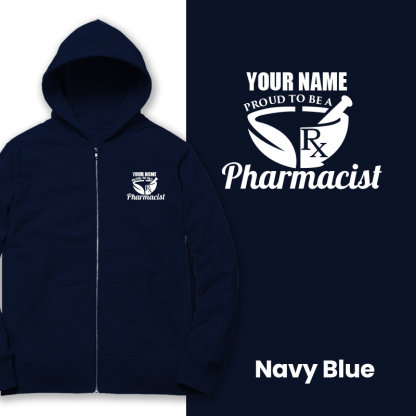 proud to be a pharmacist navy blue