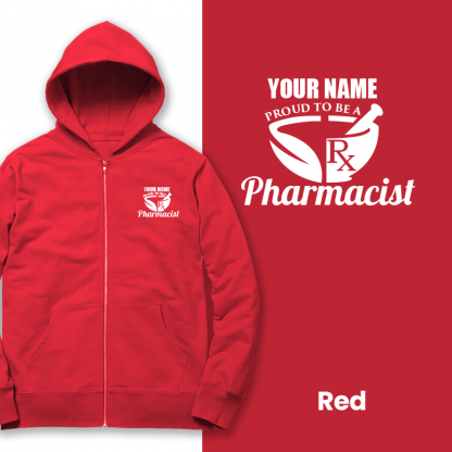 proud to be a pharmacist red