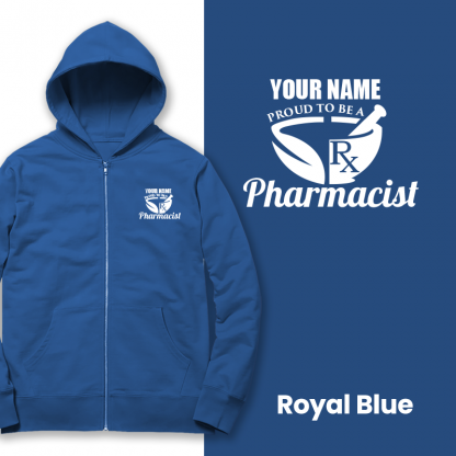 proud to be a pharmacist royal blue