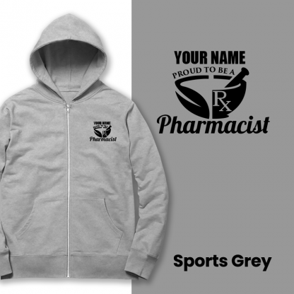 proud to be a pharmacist sports grey
