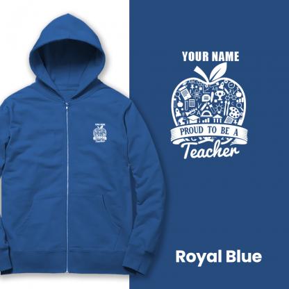 proud to be a teacher royal blue