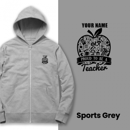 proud to be a teacher sports grey