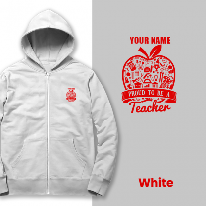 proud to be a teacher white