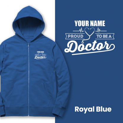 proud to be a doctor royal blue