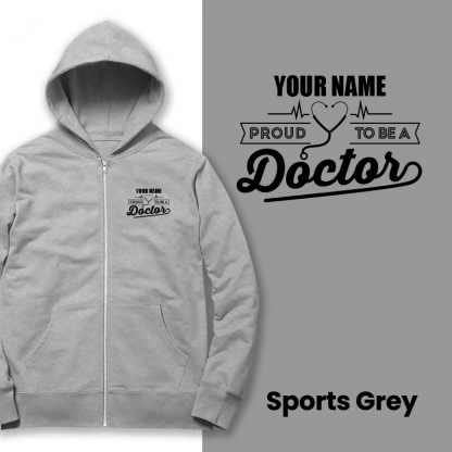 proud to be a doctor sports grey
