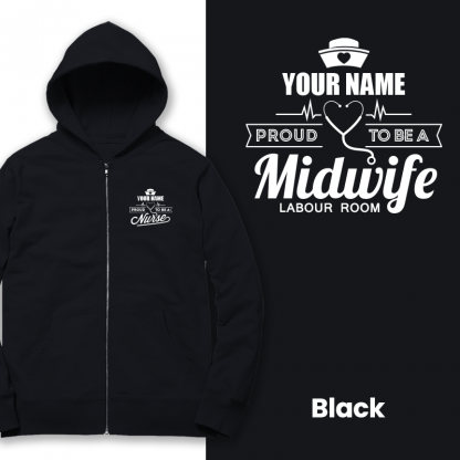 proud to be a midwife labour room black
