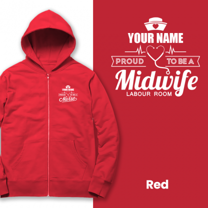 proud to be a midwife labour room red