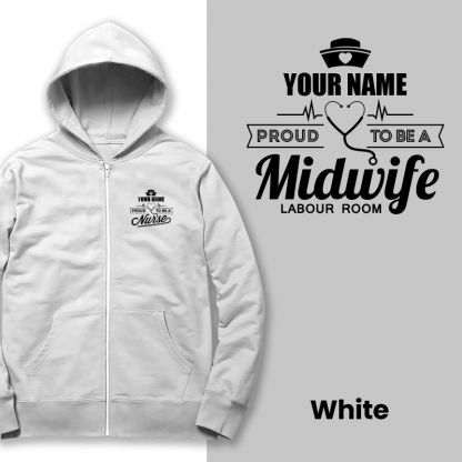 proud to be a midwife labour room white