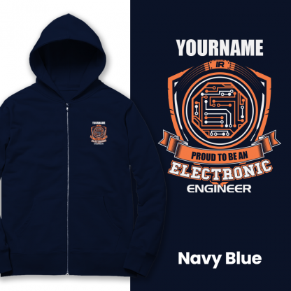 proud to be an electonic engineer navy blue