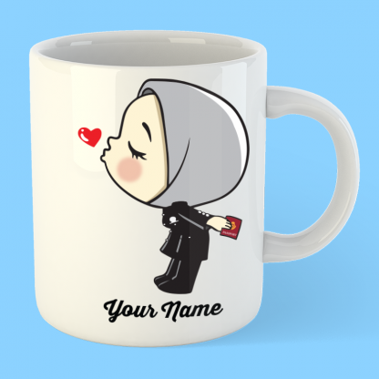 cute immigration girl in hijab