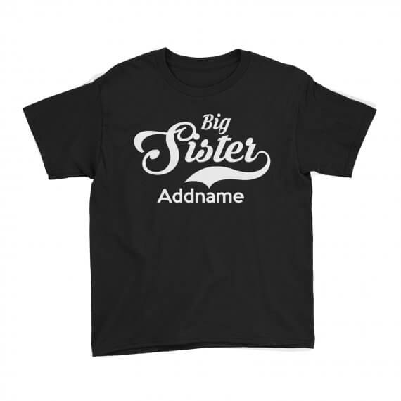 Kids-Tee-Retro-Family-Big-Sister-Addname-Black