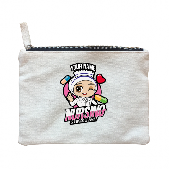 Chibi Nurse Hijab WOH – Zipper bag
