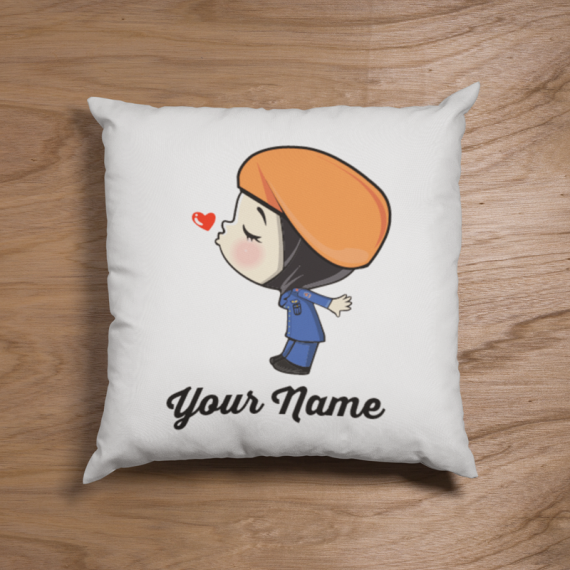 Cute Hijab APM Malaysia Female Couple Pillow