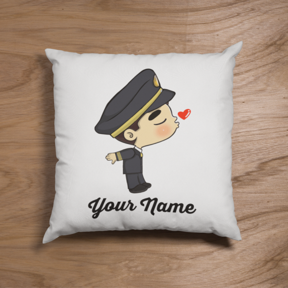Cute Malaysian Pilot Suit Couple Pillow