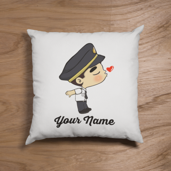 Cute Malaysian Pilot Uniform Couple Pillow
