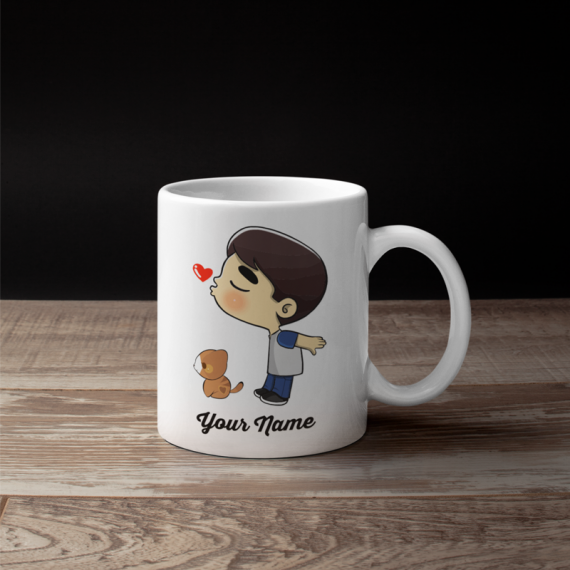 Cute Cat Boy Couple Mug