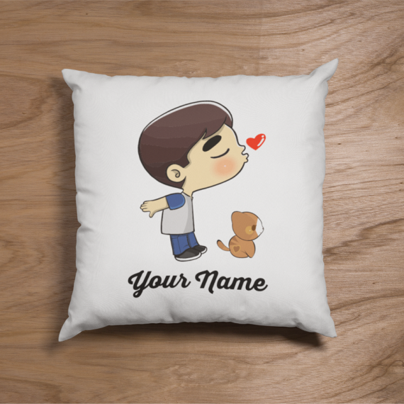 Cute Cat Boyl Couple Pillow
