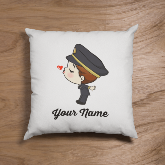 Cute Female Malaysian Pilot Suit Couple Pillow