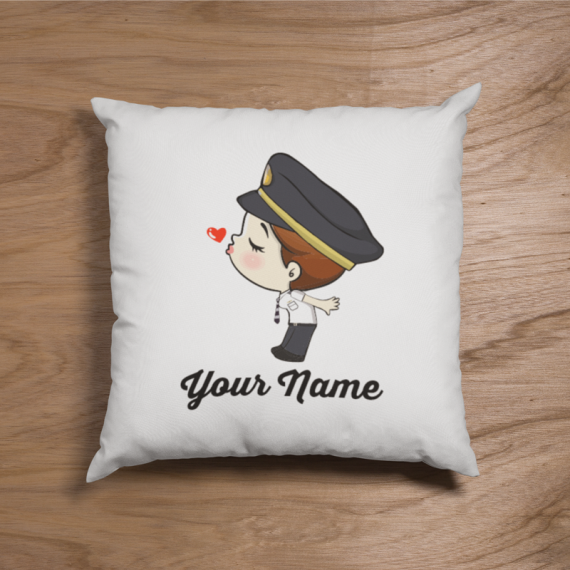 Cute Female Malaysian Pilot Uniform Couple Pillow