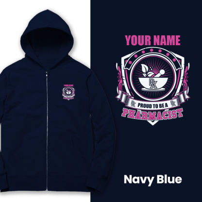 Prproud to be a pharmacist navy blue