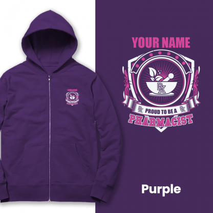 Prproud to be a pharmacist purple
