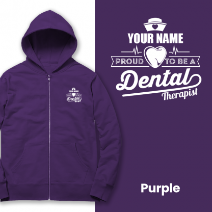 proud to be a dental therapist purple