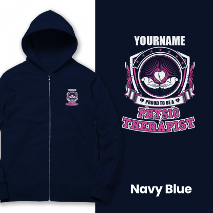 proud to be a physio therapist navy blue