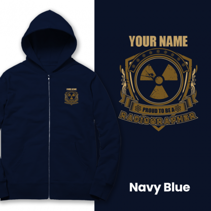 proud to be a radiographer v1 navy blue