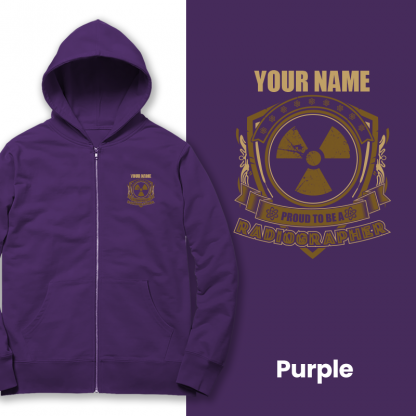 proud to be a radiographer v1 purple