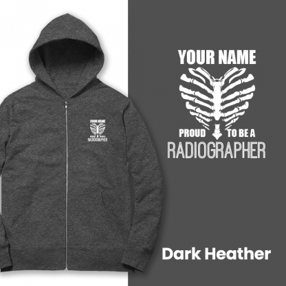 proud to be a radiographer v2 dark heather