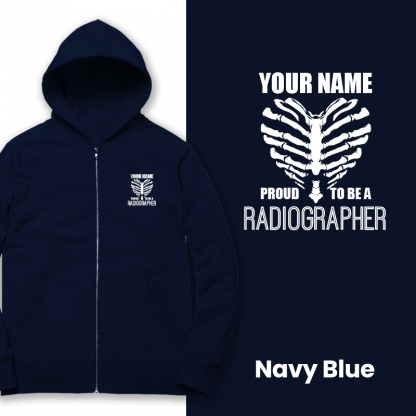 proud to be a radiographer v2 navy blue