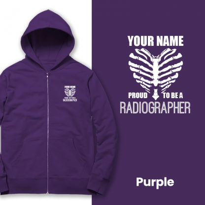 proud to be a radiographer v2 purple