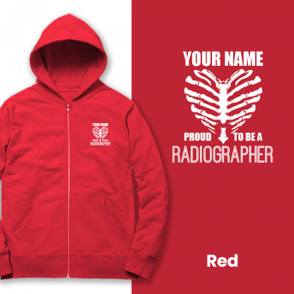 proud to be a radiographer v2 red