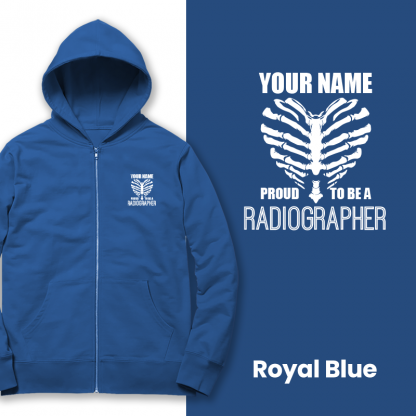 proud to be a radiographer v2 royal blue