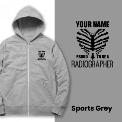 proud to be a radiographer v2 sports grey