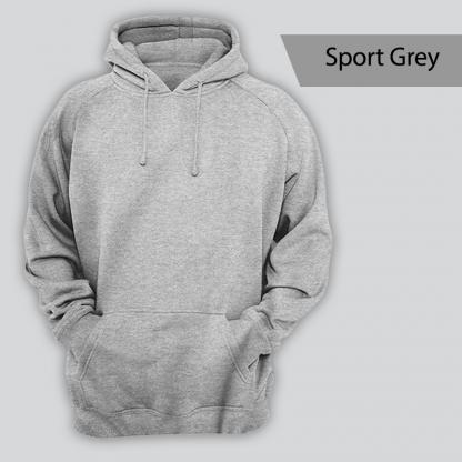 blank hoodie sport grey