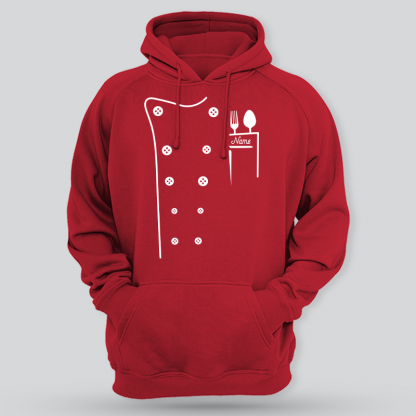 chef uniform style red