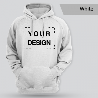 custom design no zip front only white
