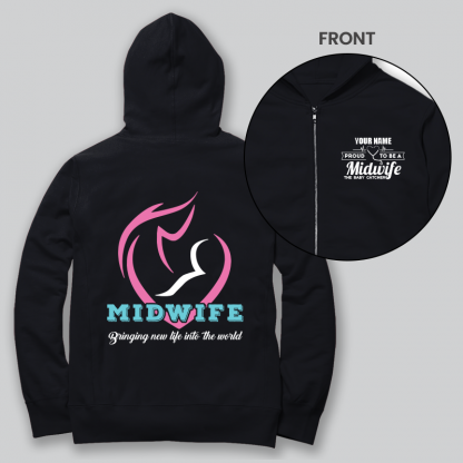 mid wife front and back black
