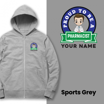 proud to be a pharmacist sport grey