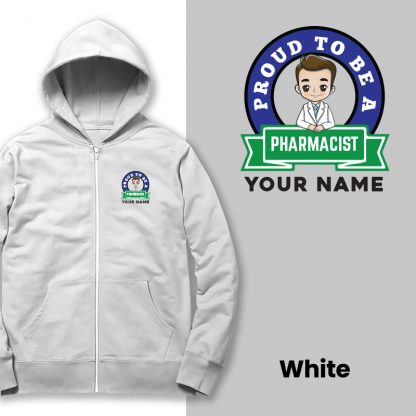 proud to be a pharmacist white