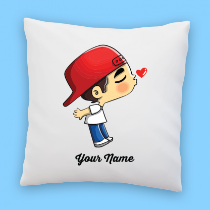 cute boy in jeans couple pillow