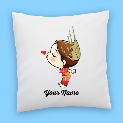 cute iban bride couple pillow