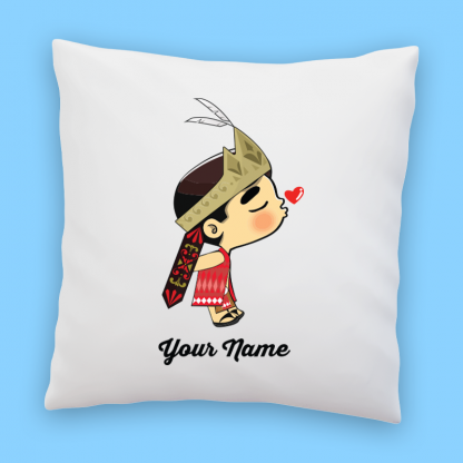 cute iban groom couple pillow
