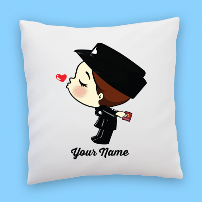 cute immigration girl couple pillow